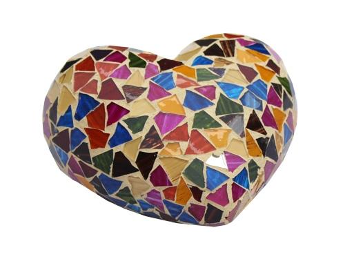 Urna corazón cerámica