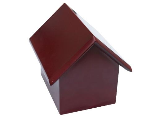 Urna casa de madera